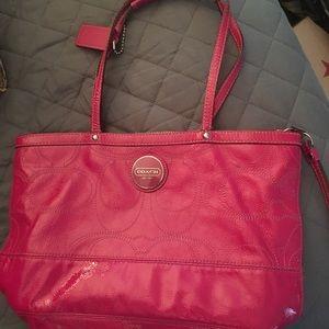 Coach fuchsia  purse